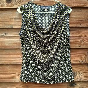Black Label Evan Picone Blouse XL Yellow and Black